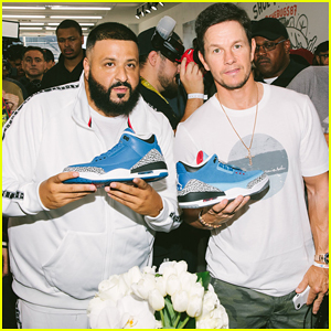 DJ Khaled Gets Support from Mark Wahlberg at Air Jordan 3 Unveiling!