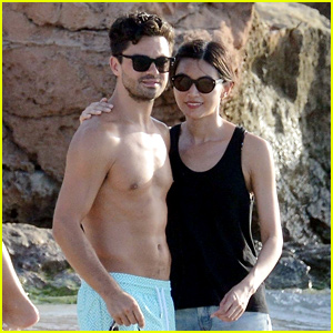 Dominic Cooper & Gemma Chan Relax at the Beach in Spain