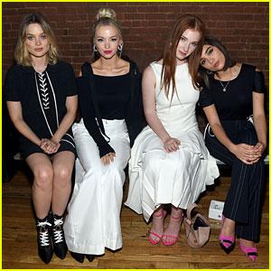 Dove Cameron, Rowan Blanchard, & Bella Heathcote Keep It Classic at Adeam's NYFW Show