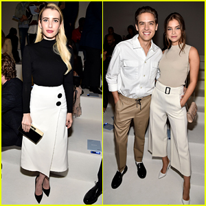 Emma Roberts Joins Dylan Sprouse & Barbara Palvin at BOSS Fashion Show During NYFW