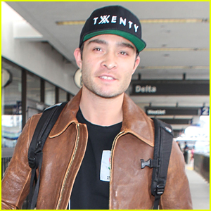 Ed Westwick is All Smiles Jetting Out of LAX Airport
