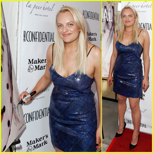 Elisabeth Moss Celebrates Her Cover at 'Los Angeles Confidential' Pre-Emmys Party!