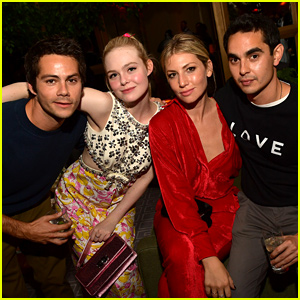Elle Fanning & Max Minghella Hang with Friends at TIFF Party