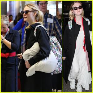 Elle Fanning Returns to LA After Attending Deauville US Film Festival 2018 in France!