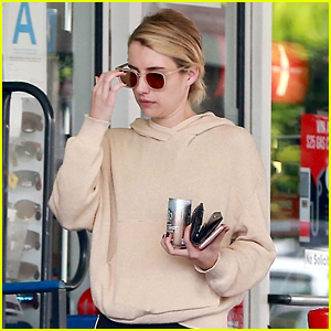 Emma Roberts Fuels Up on Coffee in Beverly Hills