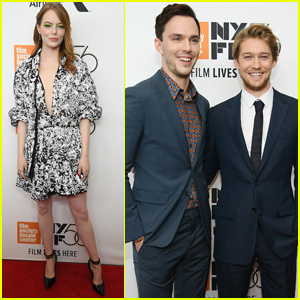 Emma Stone Joins Joe Alwyn & Nicholas Hoult at 'The Favourite' Premiere in NYC