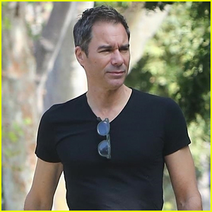 Eric McCormack Takes His Dog for a Labor Day Walk