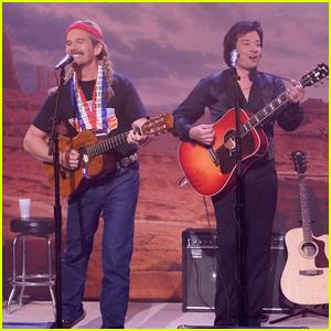 Ethan Hawke & Jimmy Fallon Parody Willie Nelson & Johnny Cash - Watch Now!