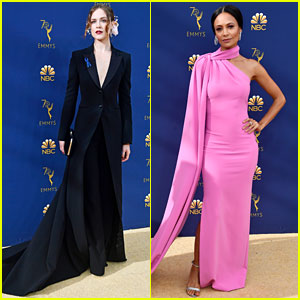 Evan Rachel Wood & Thandie Newton Join 'Westworld' Co-Stars at Emmys 2018