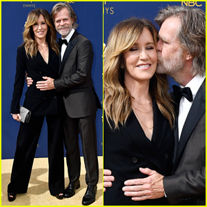 Felicity Huffman & William H. Macy Are Too Cute on Emmys 2018 Red Carpet