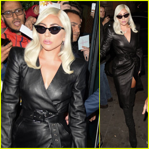 Lady Gaga Looks Hot in Leather as She Greets Fans in London!