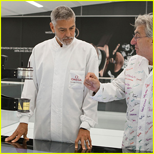 George Clooney Visits the Omega Factory in Switzerland