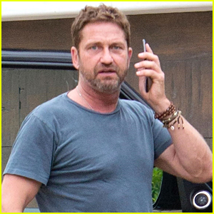 Gerard Butler Stops By Construction Site in WeHo