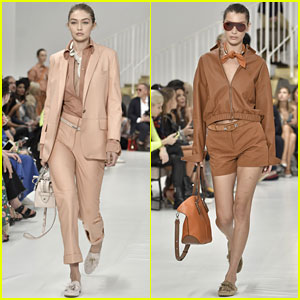 Gigi & Bella Hadid Strut Their Stuff in Tod's Milan Fashion Week Show