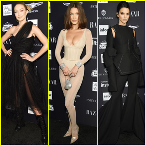 Gigi & Bella Hadid Join Kendall Jenner at Harper's Bazaar Icons Party!