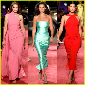 Gigi & Bella Hadid Rule the Runway at Brandon Maxwell Show with Friend Lily Aldridge!