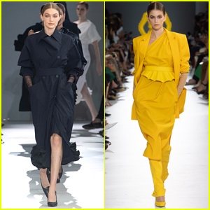 Gigi Hadid & Kaia Gerber Strut the Runway for Max Mara Fashion Show in Milan!