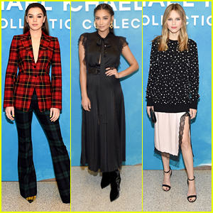 Hailee Steinfeld Wore A Full Tartan Look to Michael Kors Collection NYFW Show
