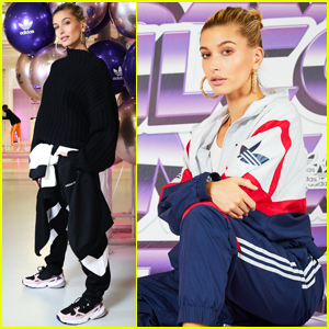Hailey Baldwin Helps Host 'Adidas' 90's Themed Fashion Show!