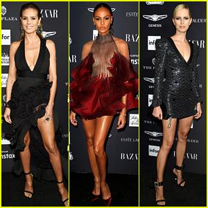 Heidi Klum, Joan Smalls, & More Gorgeous Models Celebrate NYFW at Harper's Bazaar Party