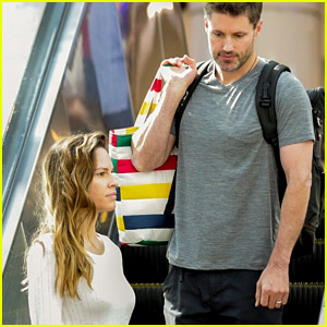 Newly Married Hilary Swank & Husband Philip Schneider Arrive at Airport in LA Together!