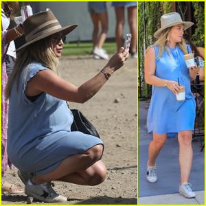 Pregnant Hilary Duff Enjoys a Day With Boyfriend Matthew Koma & Son Luca at Malibu Chili Cook Off!