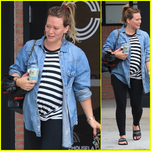 Pregnant Hilary Duff Hits the Gym With a Friend in Beverly Hills