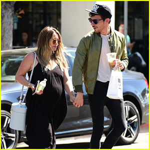 Pregnant Hilary Duff & Boyfriend Matthew Koma Head Out for Lunch!