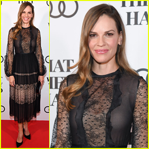 Hilary Swank Wears a Chic Sheer Dress for 'What They Had' Celebration