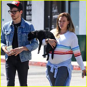 Pregnant Hilary Duff & Boyfriend Matthew Koma Bring Their Pup to the Vet!