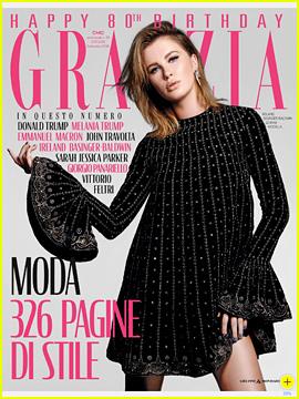 Ireland Basinger-Baldwin Poses for Fashion Portfolio in 'Grazia Italia'