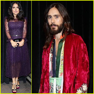 Jared Leto & Salma Hayek Join More Stars at Gucci's Paris Show