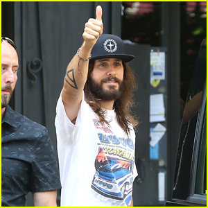 Jared Leto Gives Thumbs Up to Fans in Italy