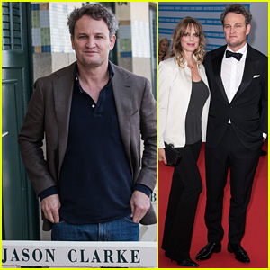 Jason Clarke Honored at Deauville Film Festival with Wife Cecile Breccia By His Side