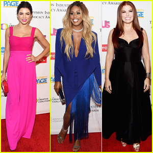 Jenna Dewan, Laverne Cox, & Debra Messing Step Out for Television Industry Advocacy Awards 2018