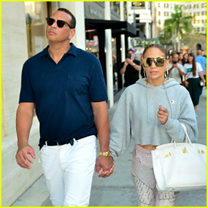 Jennifer Lopez & Alex Rodriguez Go Shopping on Rodeo Drive