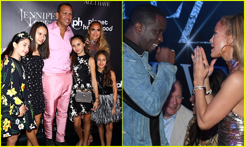 Jennifer Lopez Reunites with Sean 'Diddy' Combs, Brings Her Family to 'All I Have' After Party
