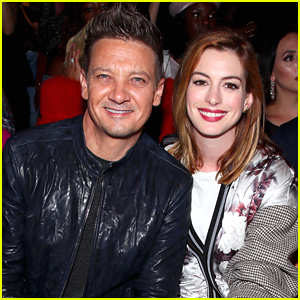 Jeremy Renner & Anne Hathaway Sit Front Row at Bosideng NYFW Show