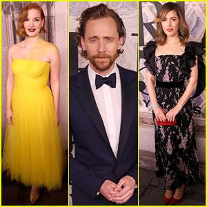 Jessica Chastain, Tom Hiddleston, & Rose Byrne Attend Ralph Lauren's NYFW Show