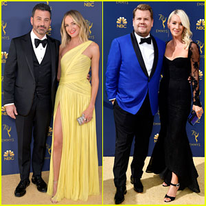 Jimmy Kimmel & James Corden Rep Their Talk Shows at Emmys 2018