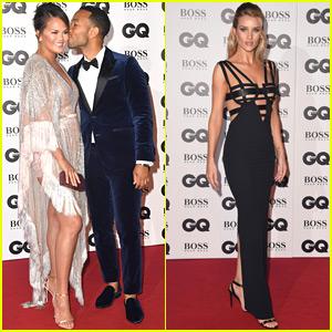 John Legend & Chrissy Teigen Share a Sweet Moment at GQ Men of the Year Awards 2018