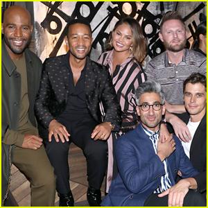 Chrissy Teigen & John Legend Help 'Queer Eye' Guys Celebrate Their Emmy Noms!