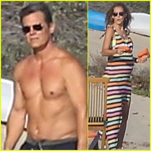Josh Brolin Goes Shirtless for Day at Beach with Pregnant Wife Kathryn!