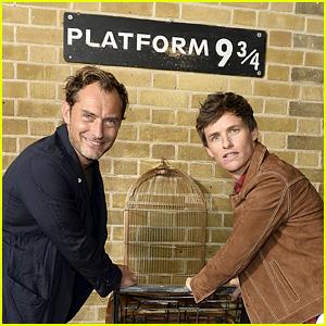 Jude Law & Eddie Redmayne Celebrate 'Back to Hogwarts Day' at Platform 9¾