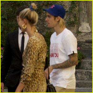 Justin Bieber & Hailey Baldwin Step Out in Milan During Fashion Week