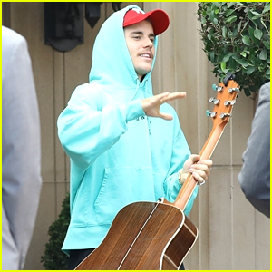Justin Bieber Steps Out with His Guitar in Beverly Hills