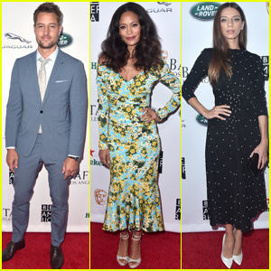 Justin Hartley Joins Thandie Newton & Angela Sarafyan at BAFTA + BBC Tea Party