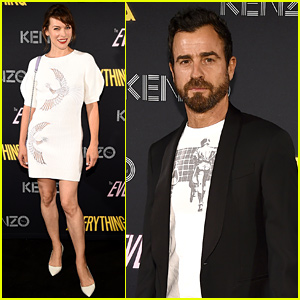 Justin Theroux Supports Cast of Kenzo Film at NYFW Event!