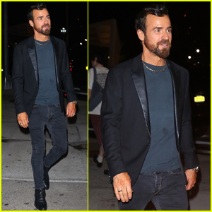 Justin Theroux Has a Night Out During New York Fashion Week