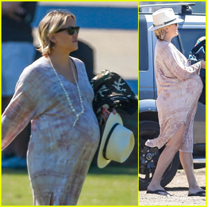 Pregnant Kate Hudson Cheers on Her Son at Soccer Practice!